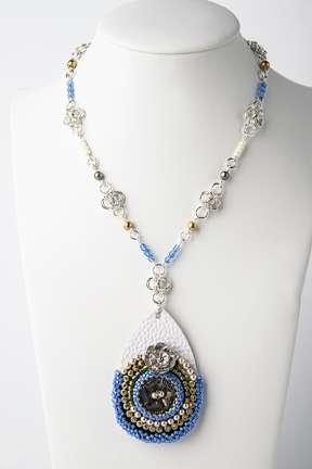 Nashi Chain,Gemstones,Wire,Seed Beads,Pearls,Czech Fire Polish,Jump Rings