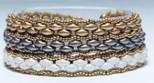 Ombre Wrap by Valerie Catallozzi©2020, Peyote Stitch, Triple Wrap Bracelet, Super Duos, Bead Weaving class