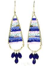 Tapestry Earrings  by Corey Milliren ©2021 Class Taught Exclusively at Bead Jungle in Henderson Nevada, Wire Working, Wire Wrapping, Wire Weaving, Czech Beads, Seed Beads, Wire